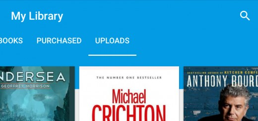 Google Play Books header