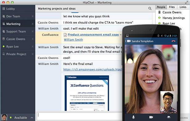 HipChat 614x378 21 tools that will help your remote team work better together