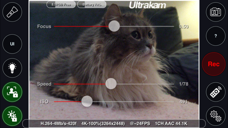 IMG 0170 4 730x410 Ultrakam 4K video app arrives for iPhone 6