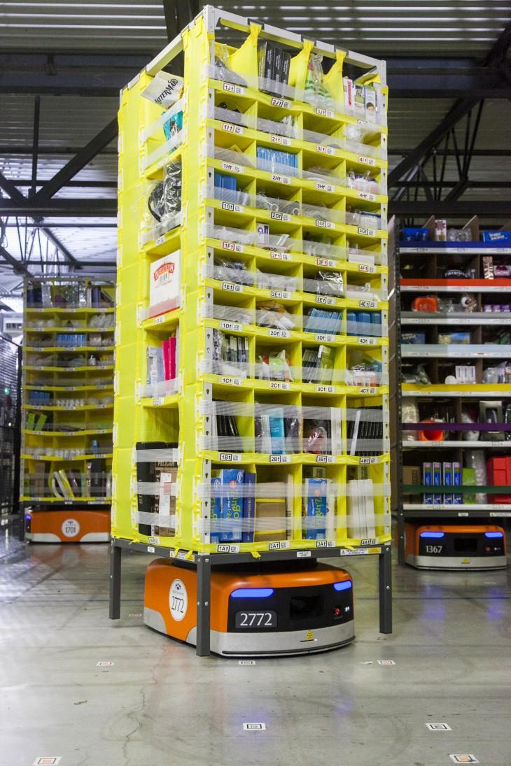 Kiva 730x1095 Amazon unveils its new army of warehouse robots but still needs humans