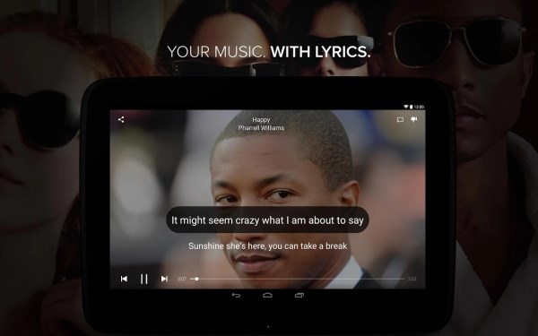 Musixmatch 60 of the best Android apps launched in 2014