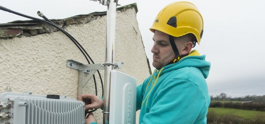 Paul Graham installs the first EE micro network site in Sebergham