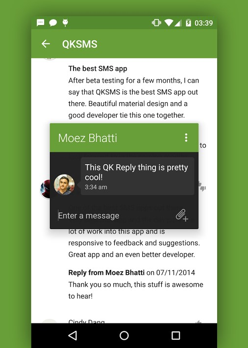 QKSMS 60 of the best Android apps launched in 2014