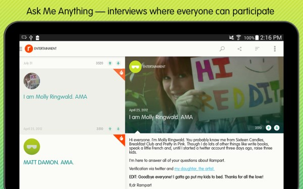 Reddit AMA 60 of the best Android apps launched in 2014