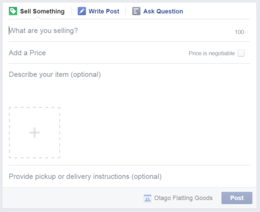Screen Shot 2014 12 17 at 9.35.32 pm Facebook is testing an official way to sell goods in Groups