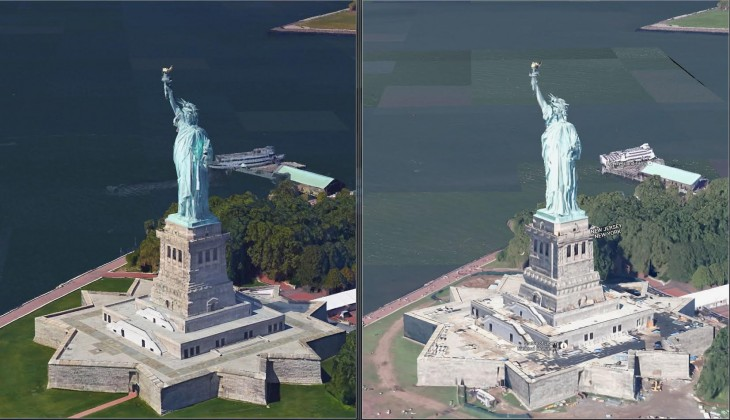 Google Maps Earth View Mode Updated with Highres 3D Models – View Maps in Google Earth