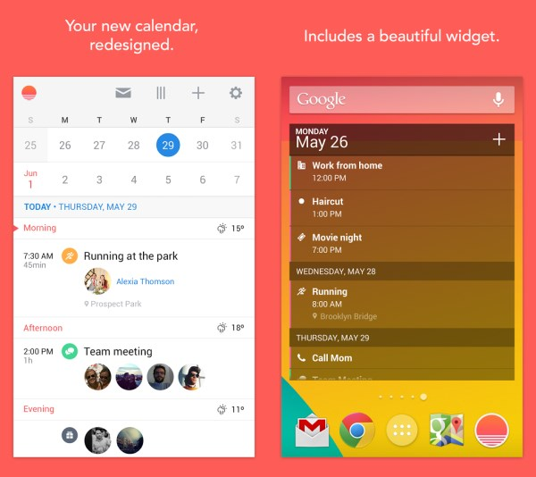 Sunrise Calendar 60 of the best Android apps launched in 2014