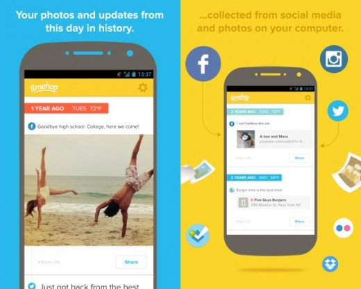Timehop 520x416 60 of the best Android apps launched in 2014