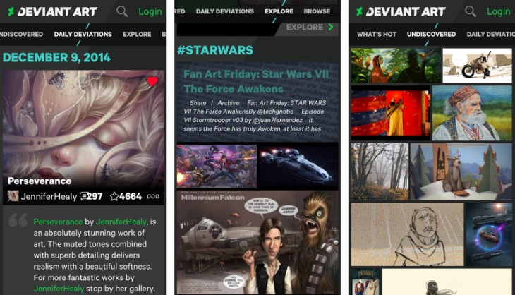 Untitled 1 730x418 DeviantArt unveils first mobile app for iOS and Android
