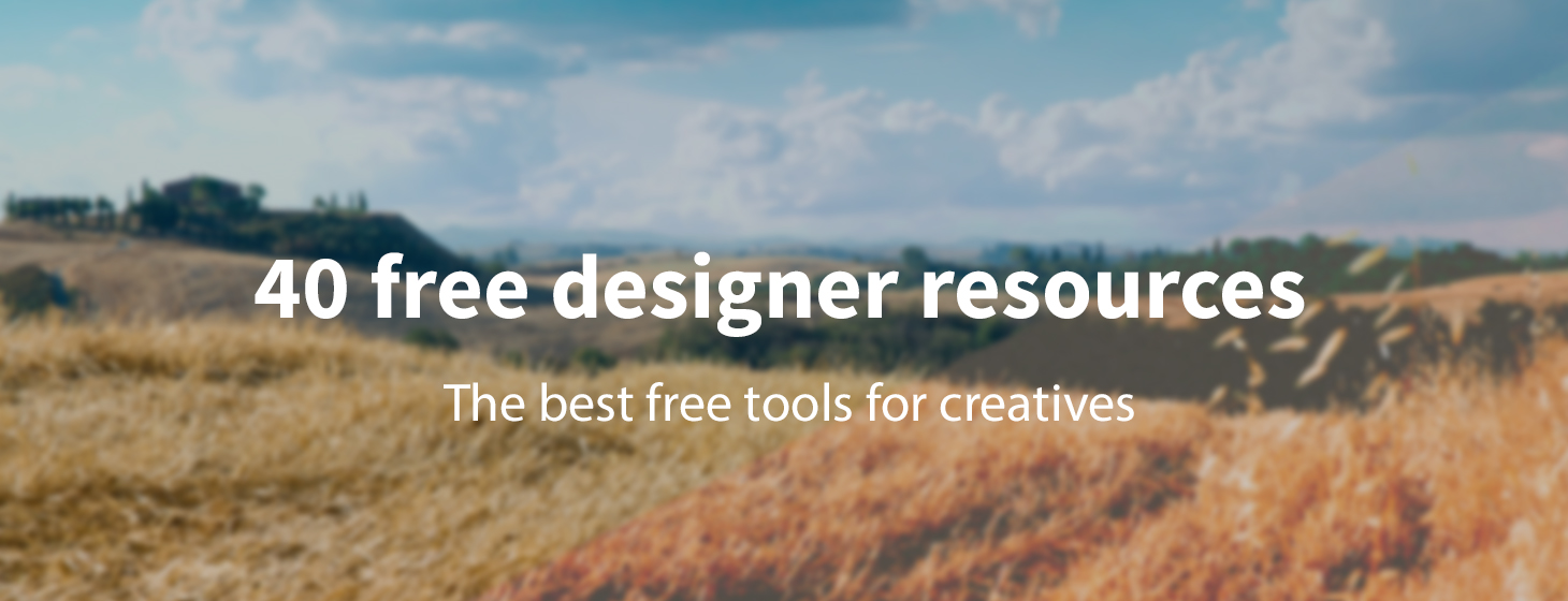 40 free resources every designer should know