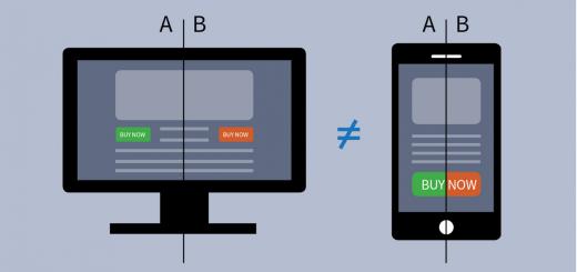 mobile web usability test a:b