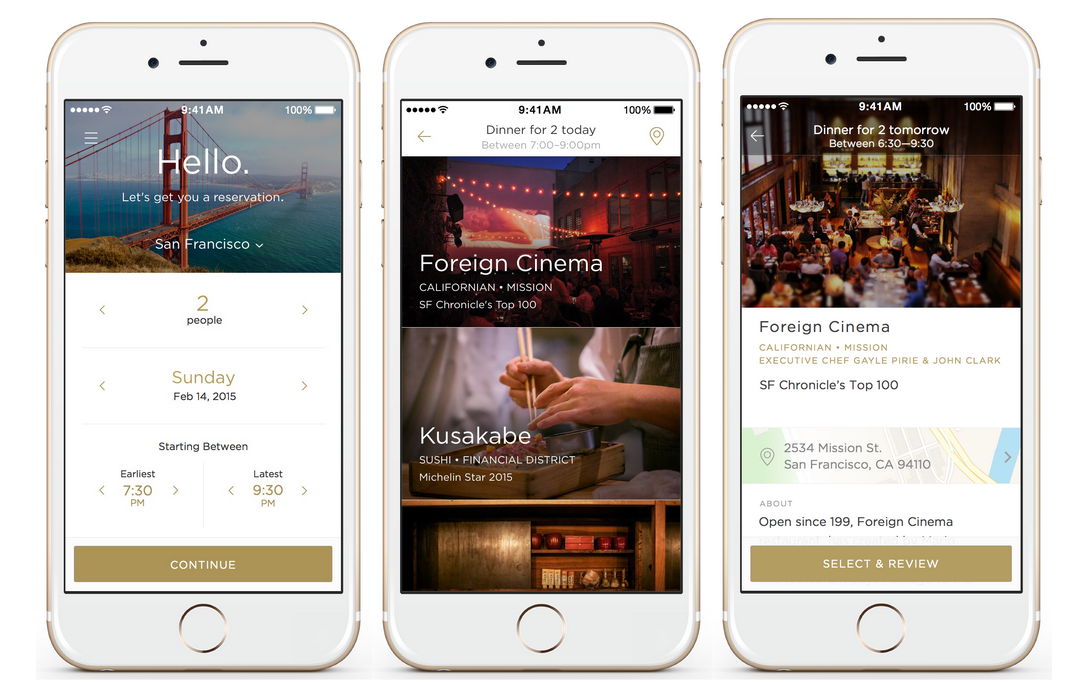 Uber-for-Restaurants App Reserve Lands in San Francisco
