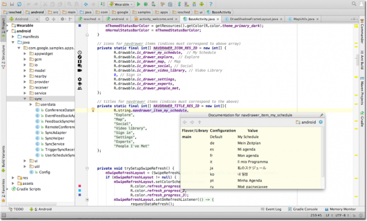 shadow studio hero code 2x 730x439 Android studio hits 1.0, makes it easier to build Android apps