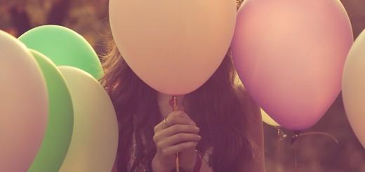 shy girl balloons