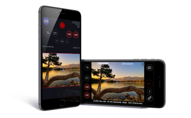 ultrakam1 730x450 Ultrakam 4K video app arrives for iPhone 6