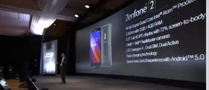 Screen Shot 2015 01 06 at 8.26.09 am Asus announces ZenFone 2, with Intel Atom processor, 13MP camera and 1080p display