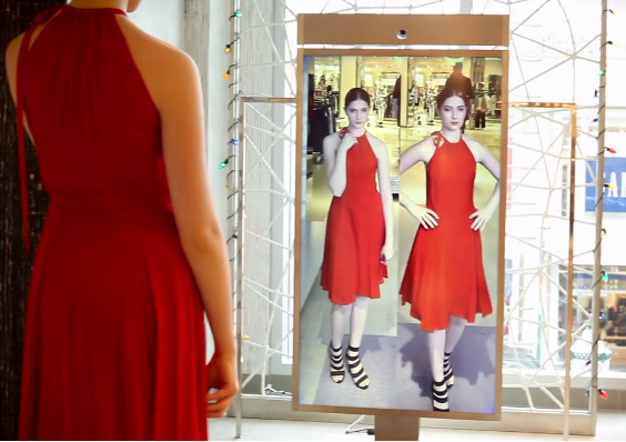smart mirror lets you try on clothes outside the fitting room