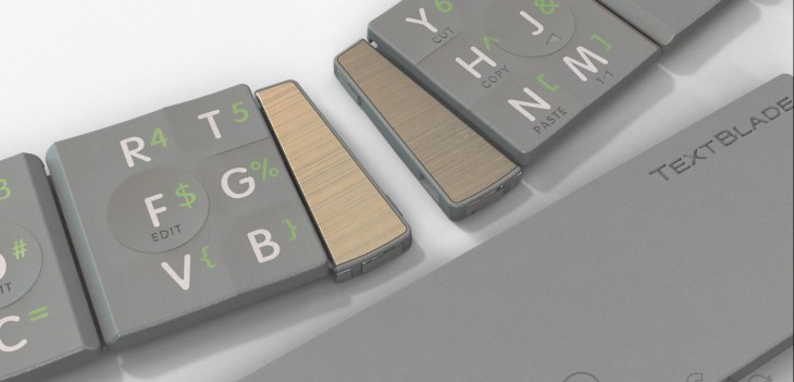 Textblade 3 730x351 This unique mobile keyboard folds smaller than an iPhone 4