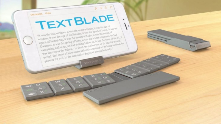 Textblade 4 730x409 This unique mobile keyboard folds smaller than an iPhone 4