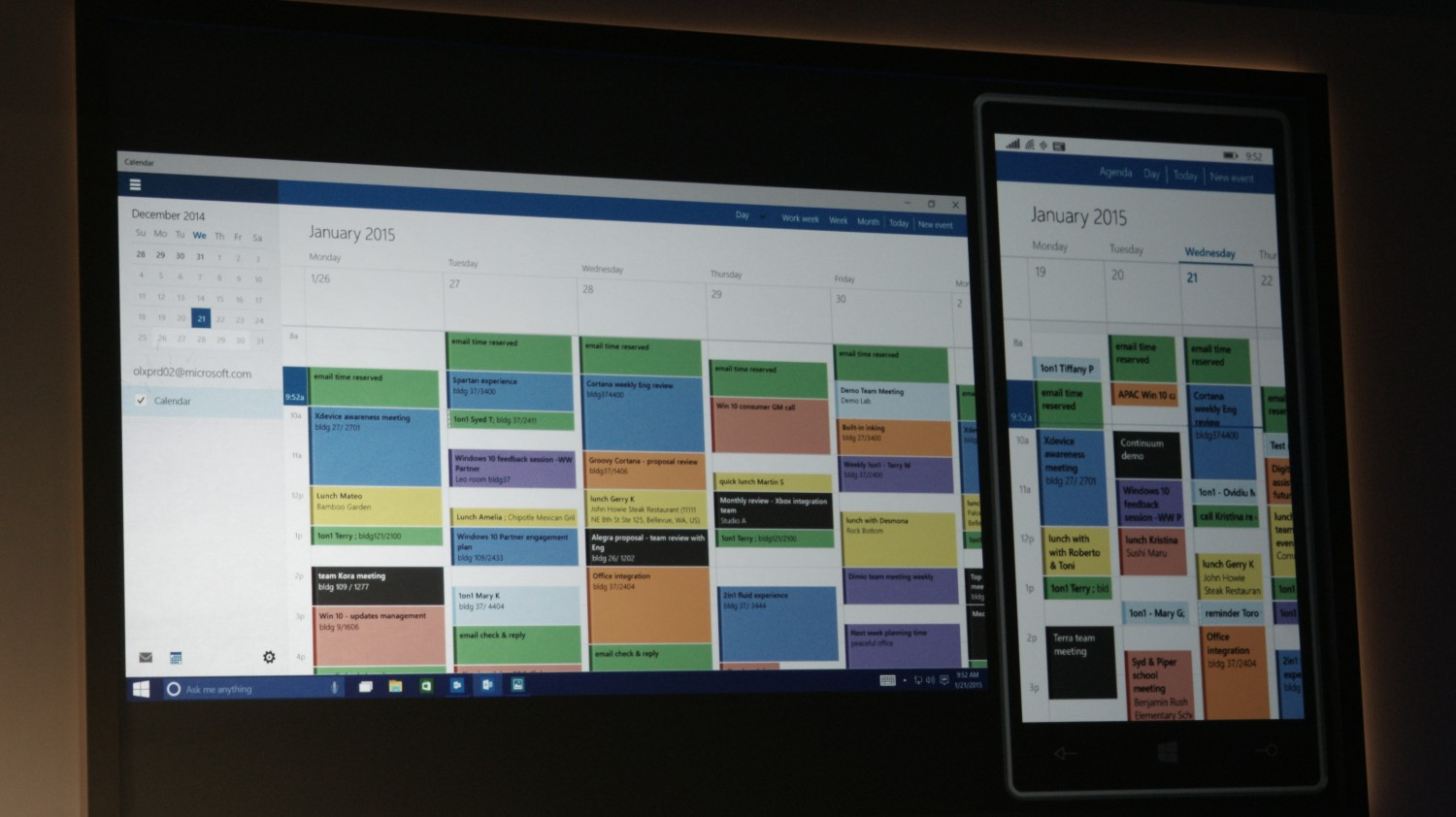 ... at its Windows 10 event in one handy list