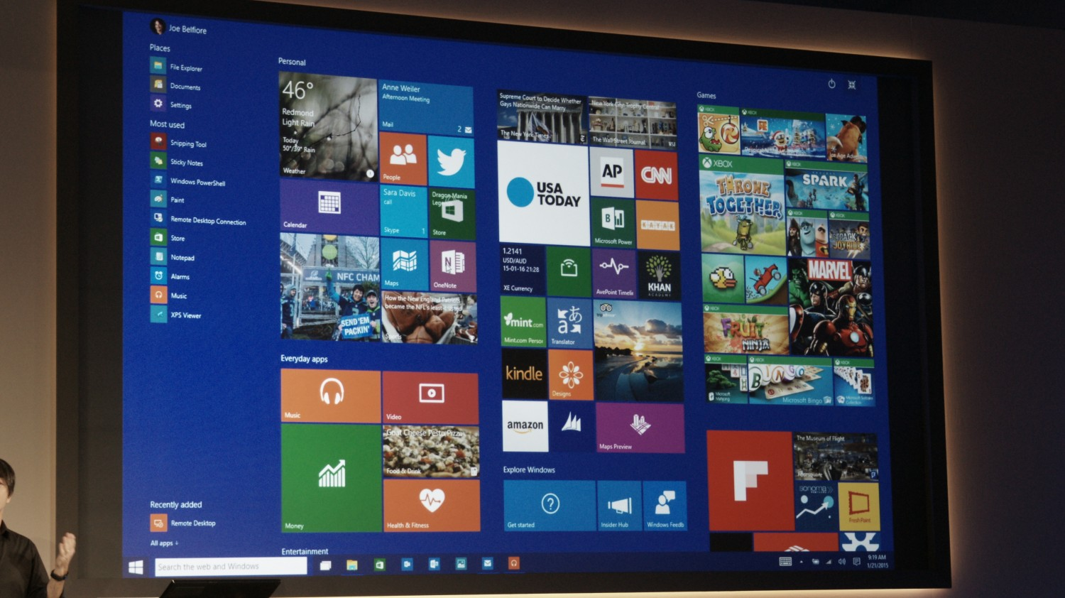 This is windows 10 39 s start screen the next web for Screen new window