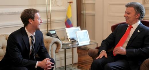 Mark Zuckerberg and the President of Colombia, Juan Manuel Santos