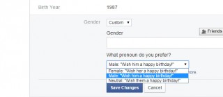 Facebook Gender