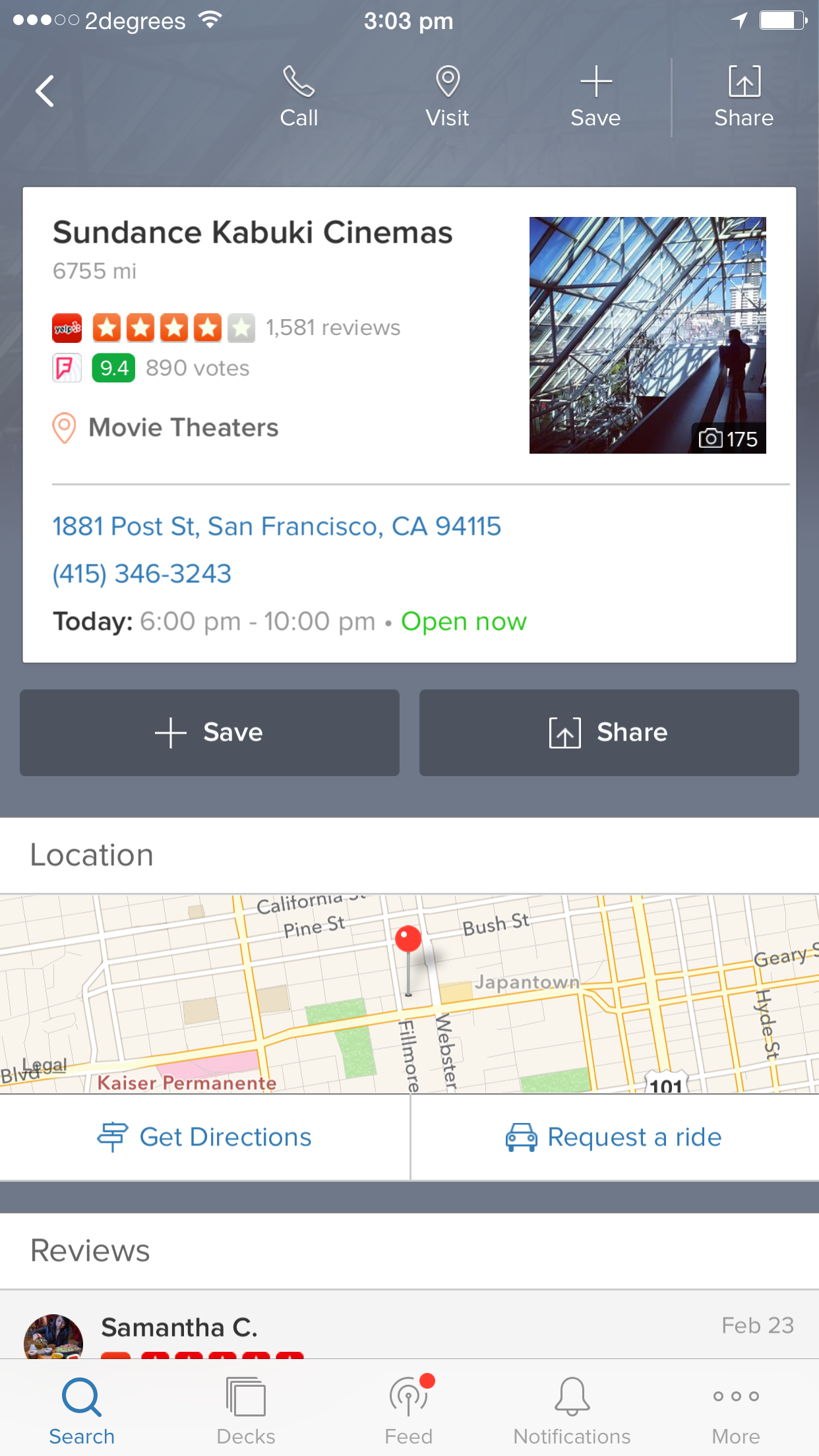 IMG 0018 Vurb is a mobile search engine that helps you get things done without jumping between apps