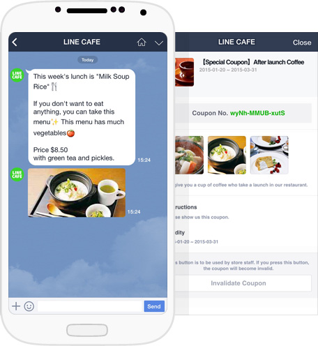 LineAt branded messages Line launches a new app to connect brands and personalities with their fans