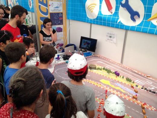 Maker Faire Rome 2014 520x390 3DRacers is real world Mario Kart with 3D printed mini cars