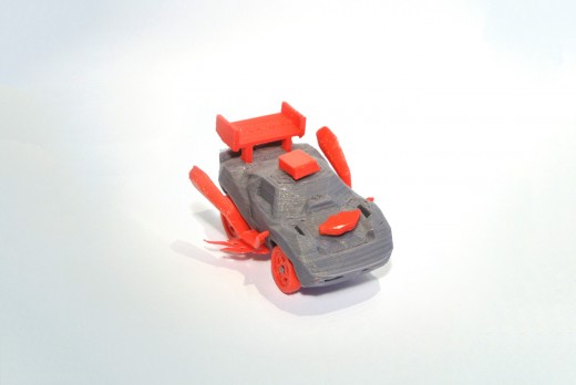Mini 3DRacers corvette 2 520x348 3DRacers is real world Mario Kart with 3D printed mini cars