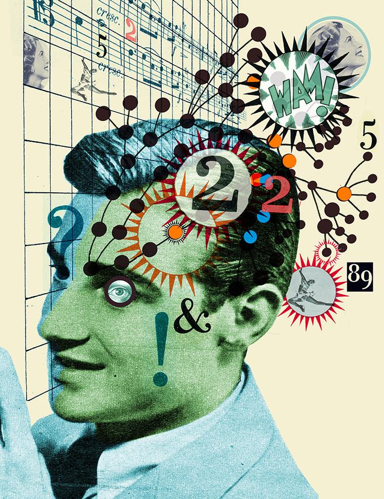 Famous brain painting