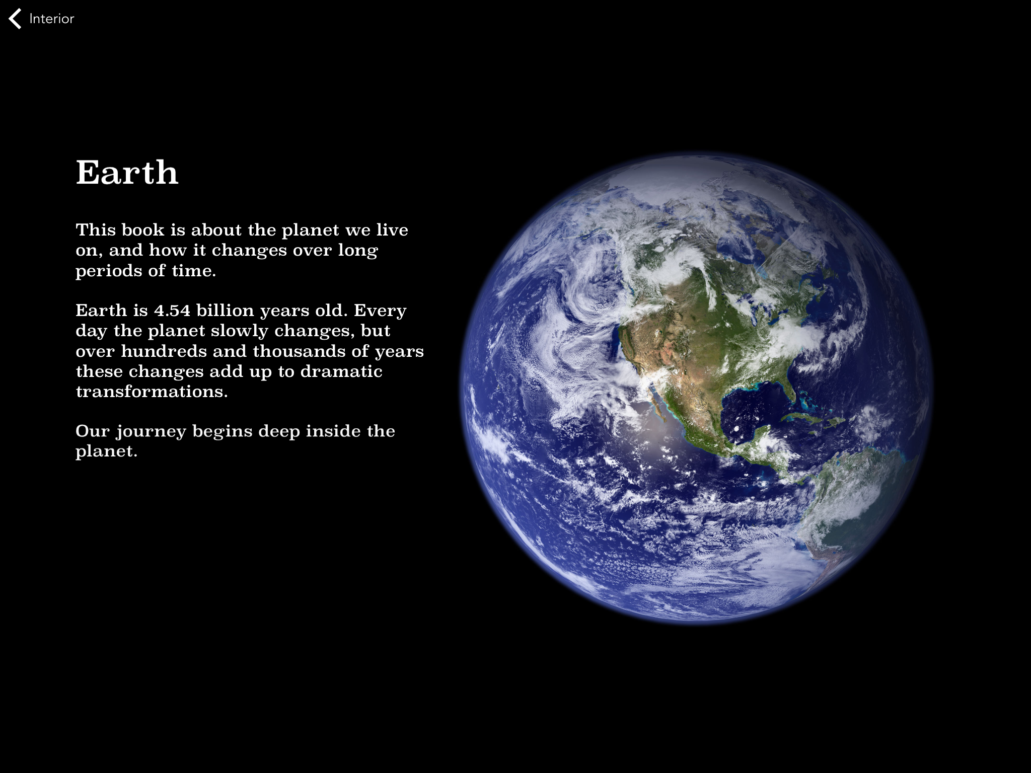 earth This stunning app will make you wish all textbooks were on an iPad
