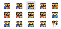 family These are Apples new, diverse emoji