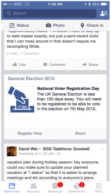 image 220x389 Facebooks kicking off a voter registration drive for the UK general election