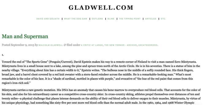 malcom gladwell blog How to optimize blog design to better engage with readers