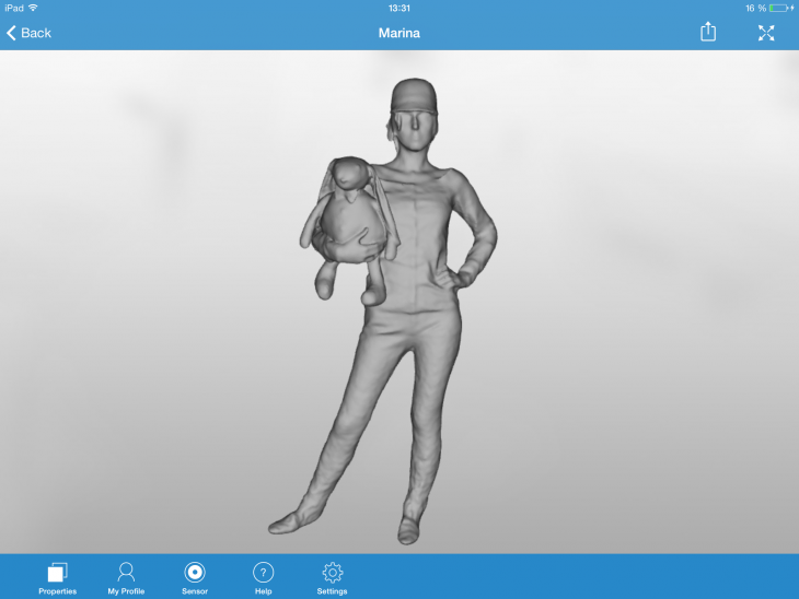 model view surface full body 730x548 3D scanner app for iPad can now fashion full body scans for cute figurines and more