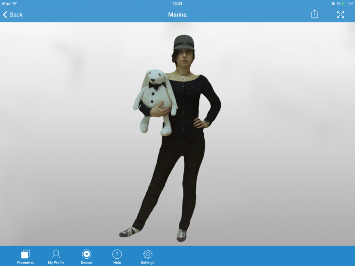 model view texture full body 730x548 3D scanner app for iPad can now fashion full body scans for cute figurines and more