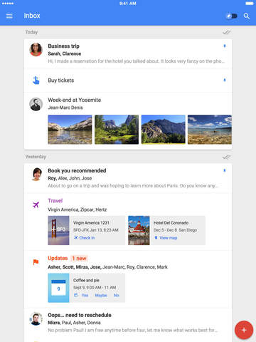 Googles Inbox by Gmail hits the iPad