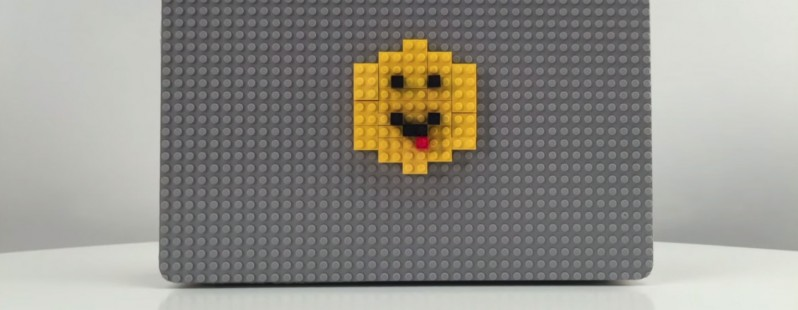picture of This MacBook case lets you dress up your laptop with LEGO bricks
