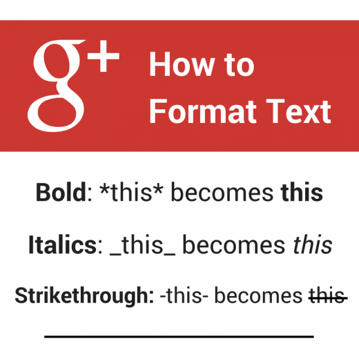 How to format Google text 520x520 The 29 rules of social media   and which ones to break