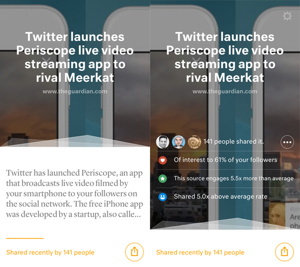 Juice screens Juice for iOS helps you share content your Twitter followers will love