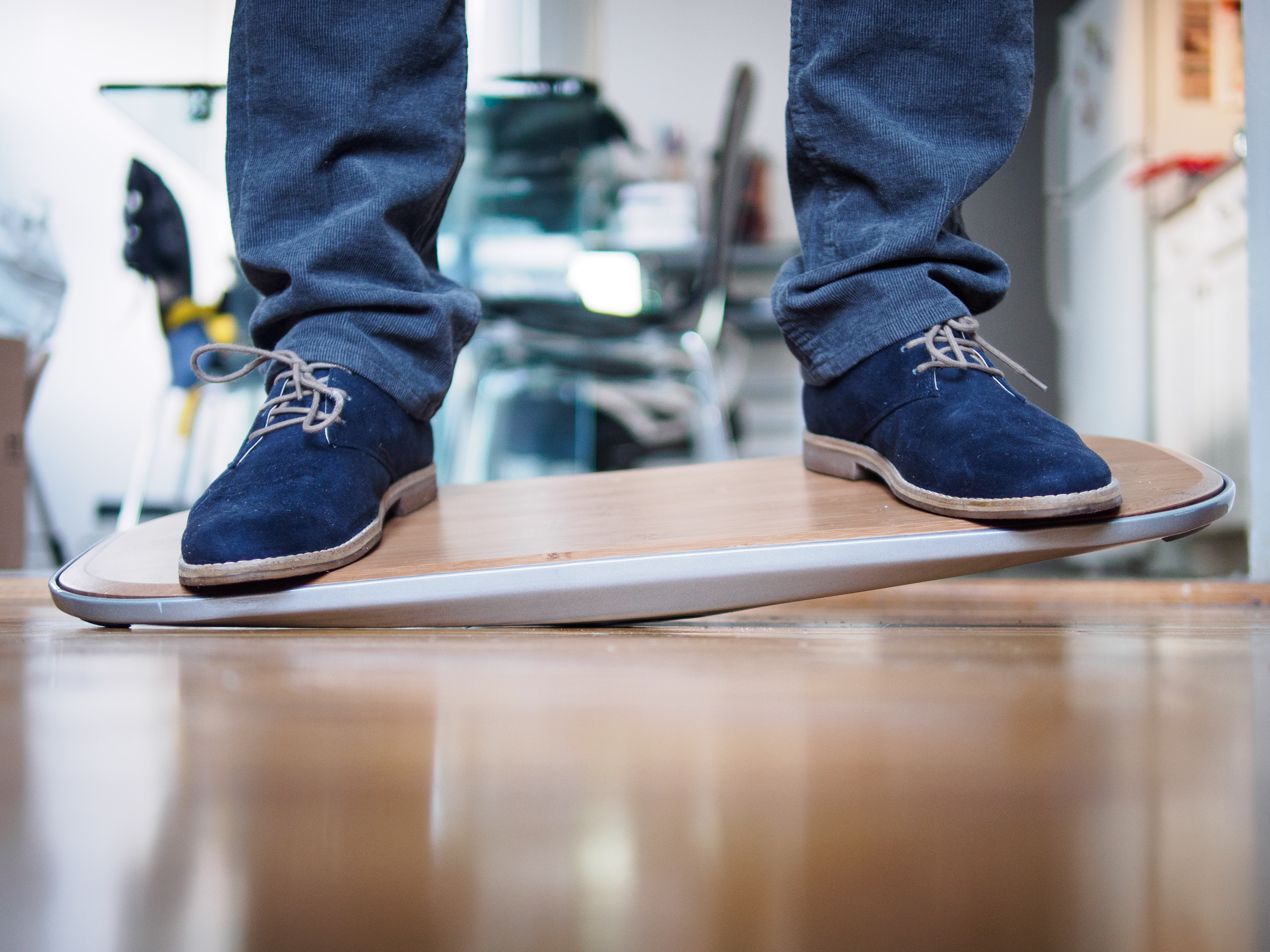 The Level Is A Balance Board For Standing Desk Users And