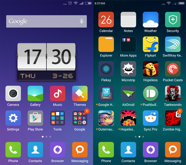 Redmi 2 home screens Xiaomis Redmi 2 sets the bar high for budget Android phones
