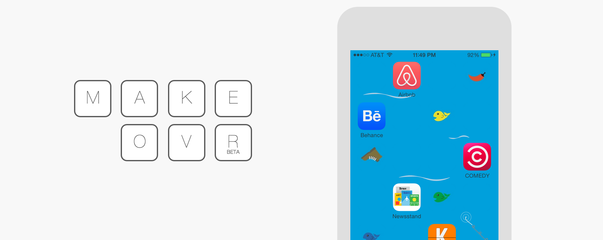 Arrange your iphone icons any way you want with makeovr for Cool way to arrange iphone apps