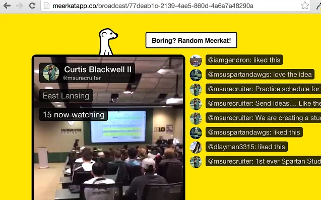 Screen Shot 2015 03 29 at 8.38.01 am Unofficial Meerkat Chrome extension brings portrait support and comments to the Web