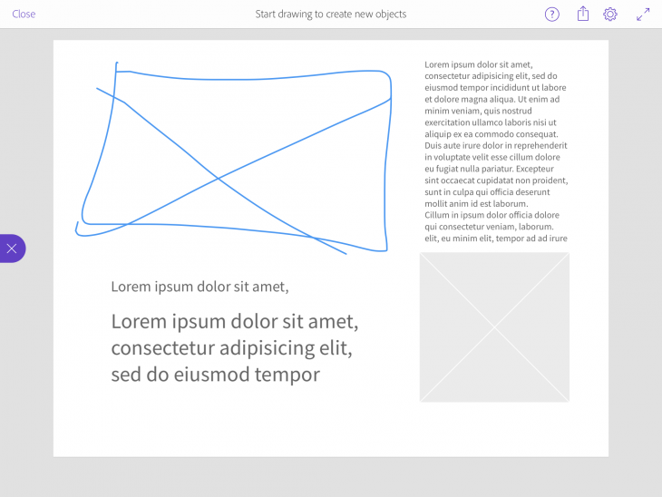 Sketch CompCC 730x548 Meet Adobe Comp CC, an iPad app that lets designers execute a complete layout on the go