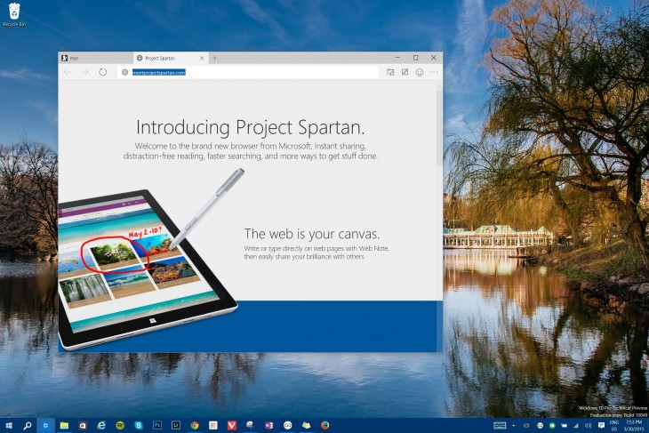 Spartan 2 730x487 Hands on with Project Spartan, Microsofts Internet Explorer replacement