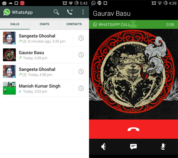 WhatsApp calling screens1 WhatsApp is rolling out its voice calling feature on Android — heres how to activate it