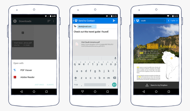 android app pdfs search Dropbox for Android can now view PDFs in app and find text in documents